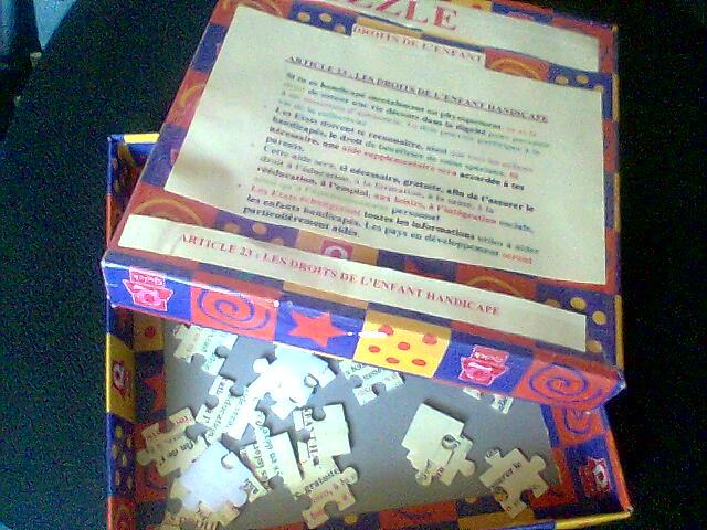 puzzle droits de l`enfant